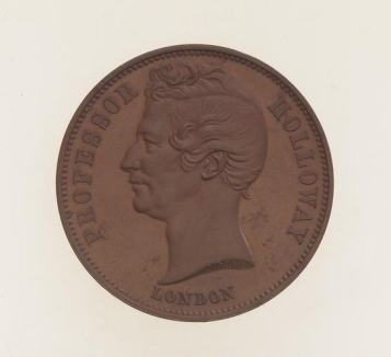 Professor Holloway Token Halfpenny, Proof. Museums Victoria
